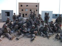 Bravo Company, 1st Platoon conducting MOUT Operations in EMV.