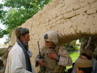 SARC speaking with Afghan local.