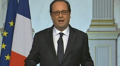 """Watch: French President François Hollande addresses his nation- """"Horror has struck again in France"""""""