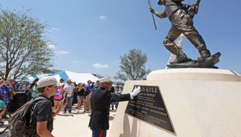 'American Sniper' Statue of Navy SEAL Chris Kyle Unveiled In Odessa
