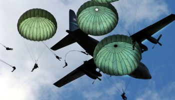 Hurtling to the ground is the easy part for these paratroopers