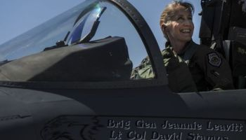First Female 57th Wing Commander-Brig. Gen. Leavitt