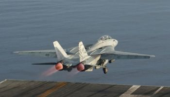 Watch: Old School F-14 Tomcat Carrier Ops