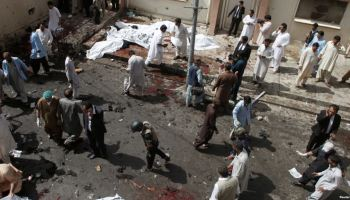 More than 60 killed in bombing at Pakistan hospital