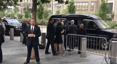 Watch: Hillary Clinton stumbles out of 9/11 memorial event