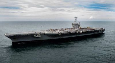 USS George Washington Aircraft Carrier to Help with Hurricane Relief