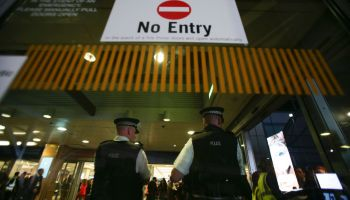 Man arrested in London airport tear gas attack