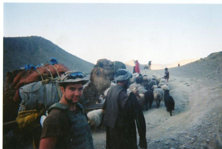 Author on the Afghan/Paki border