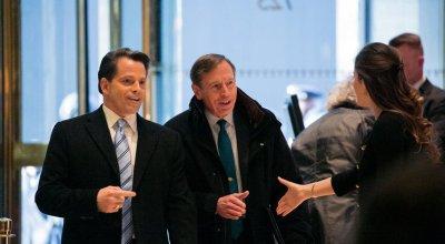 David Petraeus, Secretary of State Candidate, Meets With Trump