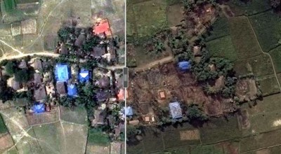 New satellite imagery shows how Burma's military is torching villages