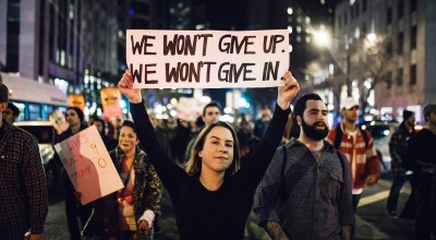Thousands protest Trump in rallies across the nation