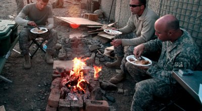 Thanksgiving Day on a remote fire base in Afghanistan