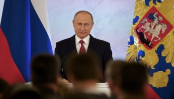 Putin's national address takes jabs at the US, but calls for cooperation