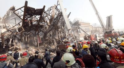 Building collapse in Tehran kills dozens, including responding firefighters