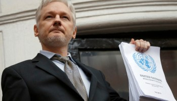 Assange claims Russia not behind email hack.