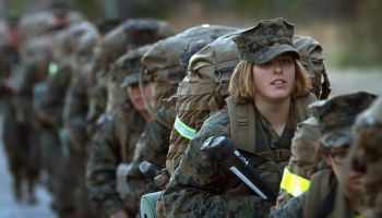 Male and female infantry Marines to share tents in the field