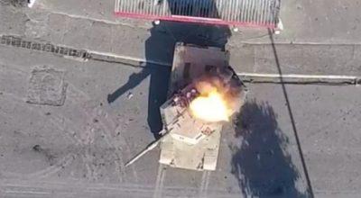 Watch: ISIS Drone Drops 'bomb' on M1 Abrams Battle Tank