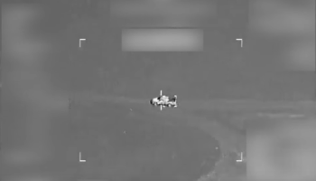 Watch: Coalition airstrike destroys an ISIS vehicle near Mosul