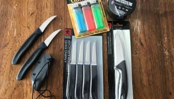 Improvised throw away edged weapons