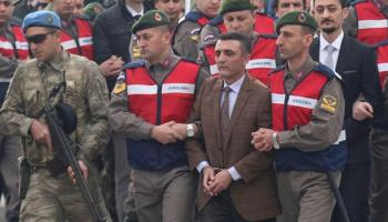 Trial begins for 40 Turkish soldiers charged with presidential 'assassination plot'