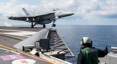 USS George H.W. Bush (CVN 77) Launches 20 Airstrikes Against ISIS in One Day