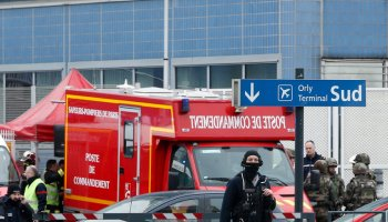 Man shot and killed after trying to grab a soldier's gun at Paris Orly Airport