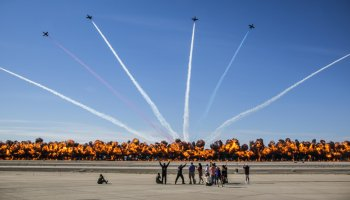 2017 Yuma Airshow wall of fire
