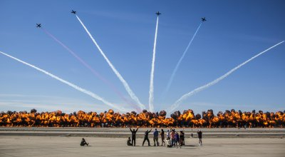 Watch: The Worlds Largest Wall of Fire! 2017 Yuma Airshow at Marine Corps Air Station Yuma