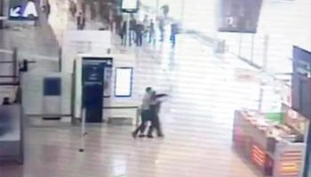 Watch: CCTV footage of the terrorist taking the police officer hostage at the Paris Orly Airport