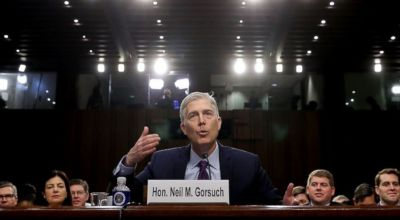 Watch: Neil Gorsuch fields questions on the 2nd Amendment and 'military' style weapon bans in his Supreme Court confirmation hearing
