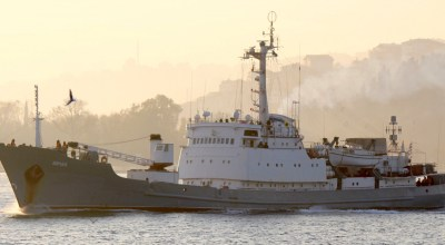 Russian spy ship sinks off the coast of Turkey after colliding with vessel carrying 8,800 sheep