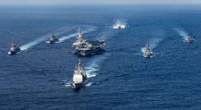 Carl Vinson Carrier Strike Group Cancels Port Call in Australia Heads Towards Korean Peninsula Area