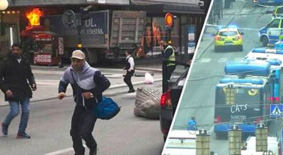 Breaking- Truck driven into a crowd of people in Stockholm, several people reported dead and injured