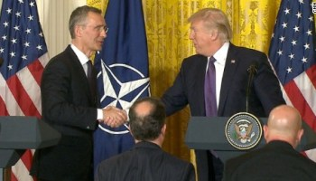 Citing changes towards fighting terrorism, Trump says NATO is 'no longer obsolete'