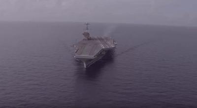 Watch: Rare Sight! USS George Washington (CVN-73) at Sea With Empty Flight Deck