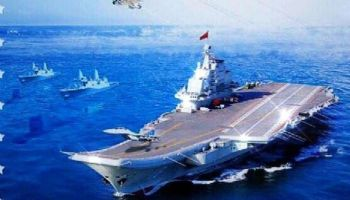 China releases propaganda poster to celebrate its navy, accidentally includes U.S. and Russian military hardware