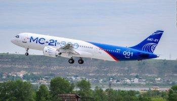 Watch: New Russian-made Irkut MC-21-300 Jetliner takes first flight