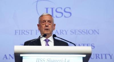 Mattis praises China's efforts on North Korea, dials up pressure on South China Sea
