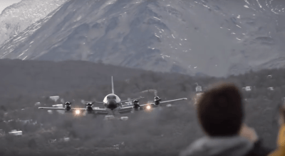 Watch: Argentine Navy Lockheed P-3 Orion flies a very low pass!