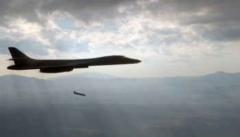 Air Force B-1B Lancer successfully fires anti-ship missile in free flight for the first time