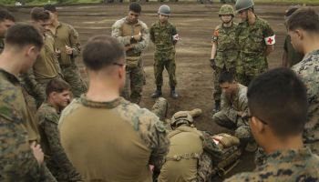 U.S. Marines begin large scale training exercises with Japanese Self Defense Force amid rising tensions in the Pacific