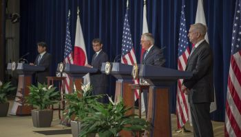 Top U.S. officials emphasize military ties with Japan in the face of North Korean threat