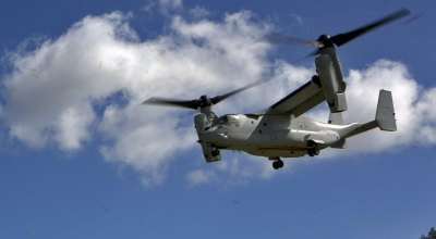 US Marine Corps MV-22 Osprey aircraft involved in a 'mishap' off the coast of Australia, search is underway for missing Marines