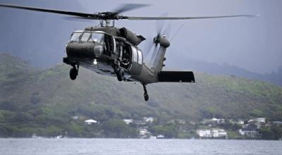 5 crew members missing after a US Army Blackhawk helicopter crashes off the coast of Hawaii