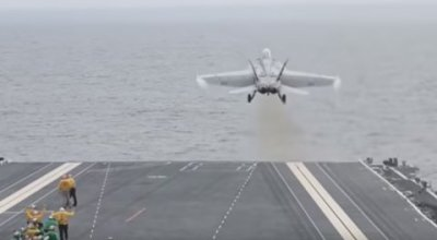 Watch: The Navy's newest, most sophisticated aircraft carrier land and launch its first aircraft