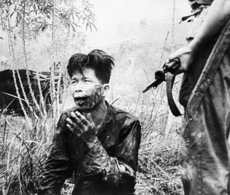 Captured terrorist in Malaya