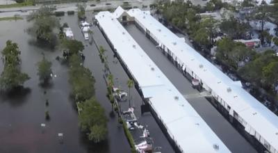 Watch: Aerial view massive flooding from Hurricane Irma in Bonita Springs, Florida