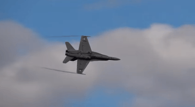 Watch: Did you know an F-18 Hornet could do this? Great aerial display!