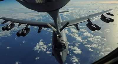 Watch: US Air Force B-52H Stratofortress Aerial Refueling from a French Air Force C-135FR Tanker