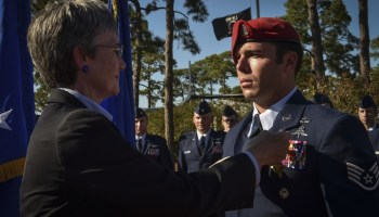 Air Force CCT Receives Air Force Cross For Valor in Afghanistan